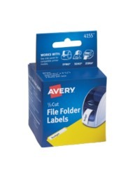 Avery® File Folder Labels for Dymo®, Seiko® and Zebra Printers 4155 Packaging Image