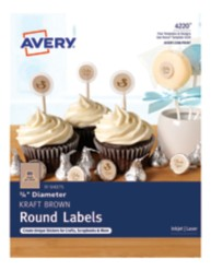 Avery Kraft Brown Small Round Labels