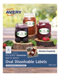Avery Oval Dissolvable Labels