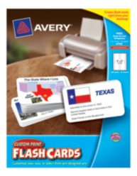 "Avery Custom Print Flash Cards 4750, 3"" x 5"", Packaging Image"