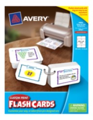 "Avery Custom Print Flash Cards 4761, 2-1/2"" x 4"", Packaging Image"