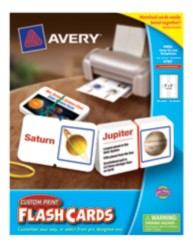 Avery® Custom Print Flash Cards  4782, with Notch and Band, Packaging Image