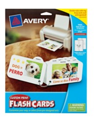 Avery® Custom Print Flash Cards with Divider Tabs 4783, Packaging Image