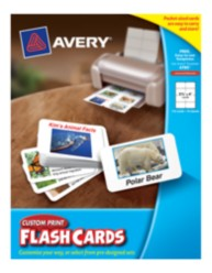 "Avery Custom Print Flash Cards 4785, 2-1/2"" x 4"", Packaging Image"