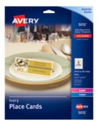 Avery® Place Cards 5012, Application Image