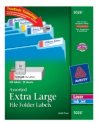 Avery File Folder Labels 5026 Packaging Image