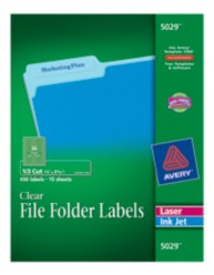 Clear File Folder Labels