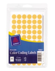 Round Color Coding Labels