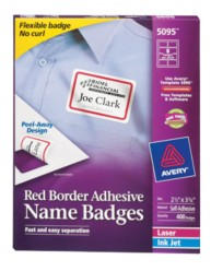 Self Adhesive Removable Name Badge Labels