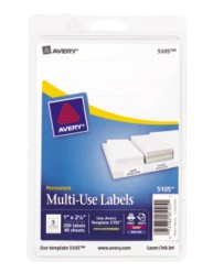 Print or Write White Multi-Use Labels
