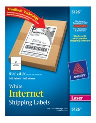 Avery Shipping Labels 5126 Packaging Image
