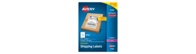 "Avery® White Shipping Labels with TrueBlock® Technology for Laser Printers 5126, 5-1/2"" x 8-1/2"", Box of 200"