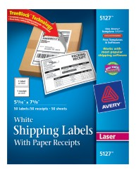 Avery Shipping Labels 5127 Packaging Image