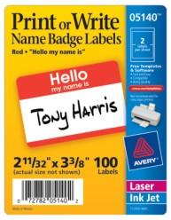 Avery Name Badges 5140 Packaging Image