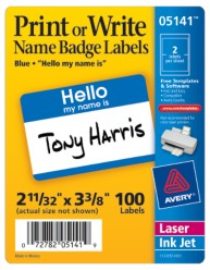 Avery Name Badges 5141 Packaging Image