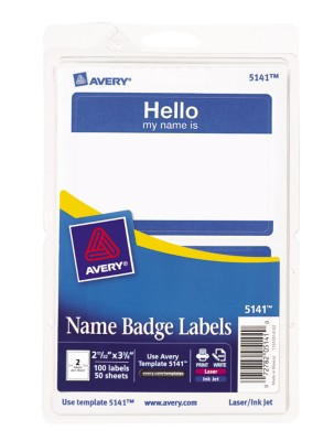 Self Adhesive Removable Name Badge Labels Print Write 5141