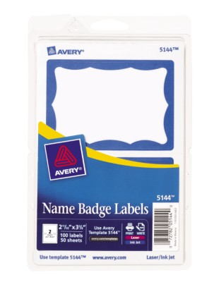 Self Adhesive Removable Name Badge Labels Print Write 5144