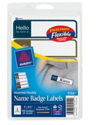 Avery® Flexible Name Badge Labels 5154, Packaging Image