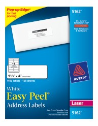 Avery Easy Peel White Address Labels 5162 Packaging Image