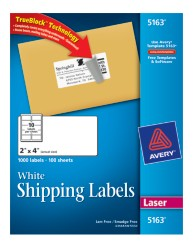 Avery Shipping Labels 5163 Packaging Image