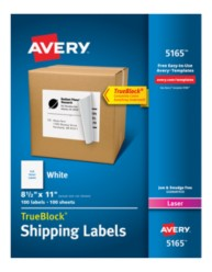 Avery Shipping Labels 5165 Packaging Image