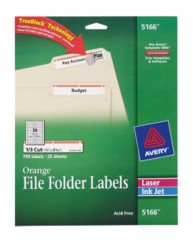 File folder labels for Avery 5166 template