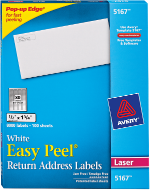 avery templates 5167 blank - create photo return address labels
