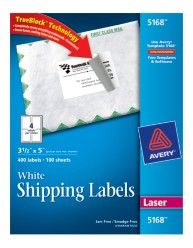 White shipping labels 5168 for Avery 5168 label template