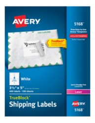 avery shipping labels with trueblock for laser printers