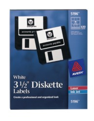 "Avery 3-1/2"" Diskette Labels"