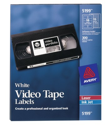 Avery Video Tape Labels 5199