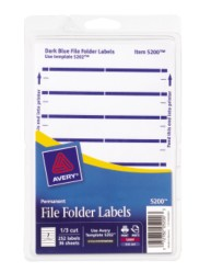 Print or Write File Folder Labels