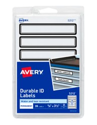 Avery Durable ID Labels 05212 Packaging