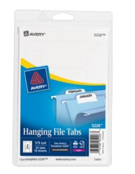 Print or Write Hanging File Tabs