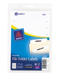 Avery&reg: Removable File Folder Labels 5230, Packaging Image