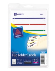 Avery® Removable File Folder Labels 5235, Packaging Image