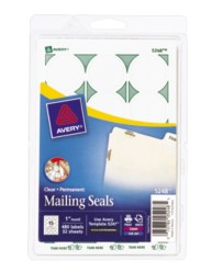 Print or Write Mailing Seals, Clear