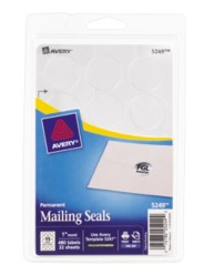 Avery Printable Metallic Mailing Seals 5249 Packaging Image