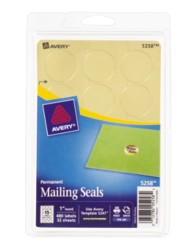 Avery Printable Metallic Mailing Seals 5258 Packaging Image