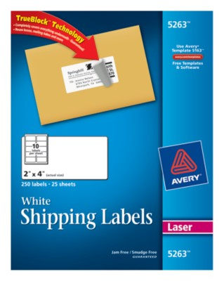 White Shipping Labels 5263
