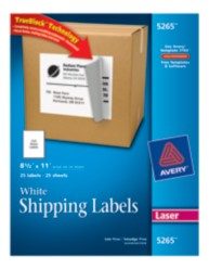 Avery Shipping Labels 5265 Packaging Image