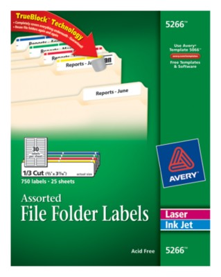 File Folder Labels 5266