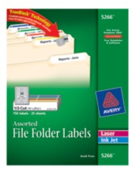 Avery File Folder Labels 5266 Package Image