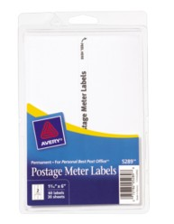 Avery Postage Meter Labels 5289 Packaging Image