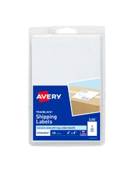 """Avery® Permanent Shipping Labels 05292, 4"""" x 6"""", Packaging Image"""