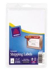 "Avery® Permanent Shipping Labels 05292, 4"" x 6"", Packaging Image"