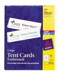 Avery Large Tent Cards 5309 Packaging Image