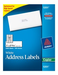 avery white address labels for copiers