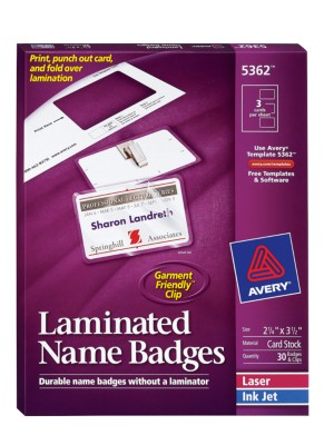 Laminated Name Badges 5362