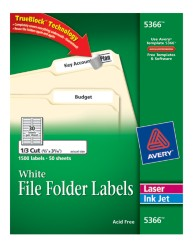 Avery File Folder Labels 5366 Package Image